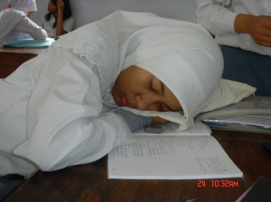 masa SMA itu waktunya buat tidur